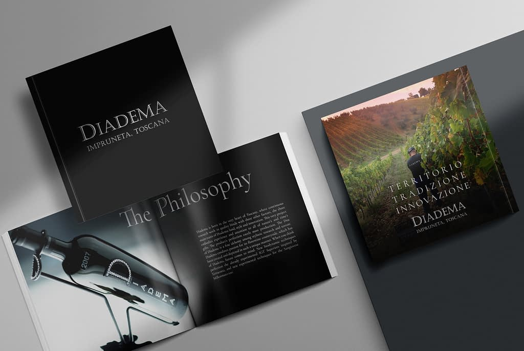 Diadema Wine Brochure Graphic Design